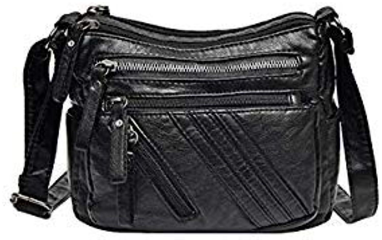 Bloomerang 2018 Women Messenger Bags Mini Leather Shoulder Bag Female Sac a Main Vintage Crpssbody Bags for Women Black Ladies Clutch Bagwe color Style 4 Bags Size L17cm W18cm Thk8cm