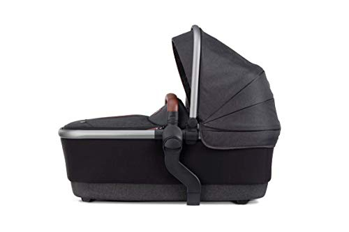 Silver Cross Wave 2020 Baby Carrycot, Stroller Accessory, Bassinet with Fully Extendable Hood and Apron, Newborn to 6 Months – Charcoal