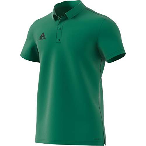 adidas Core 18 Polo, Hombre, Bold Green/Black, 2XL
