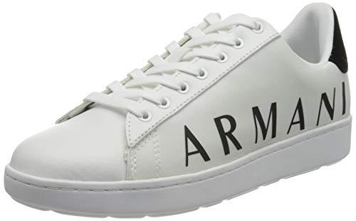 Armani Exchange Damen Copenhagen Logo Low TOP Sneaker, OP.White+Black, 39 EU