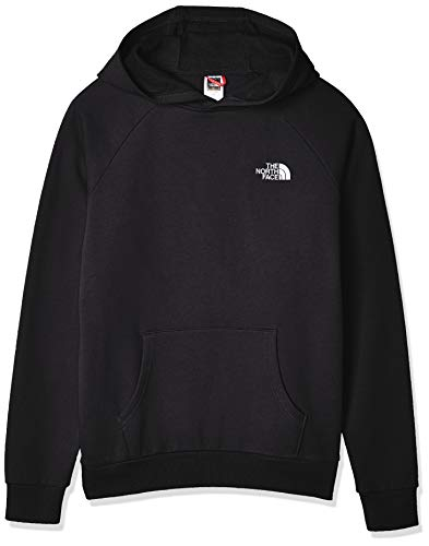 The North Face Men Hoodie Raglan Red Box, Größe:S, Farbe:TNF Black/TNF White