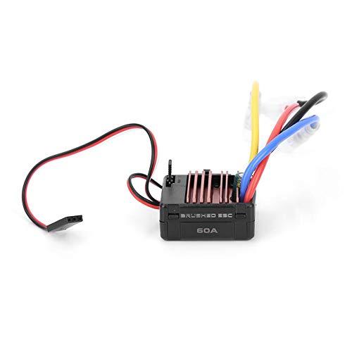 Dilwe RC Car ESC, 60A RC Gebürsteter elektronischer Drehzahlregler Zubehör für ferngesteuertes Automodell