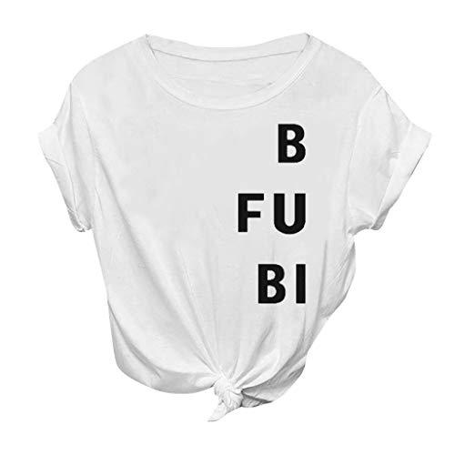 Sylar B Fu Bi Alfabeto Impresión Camisetas Mujer Manga Cort