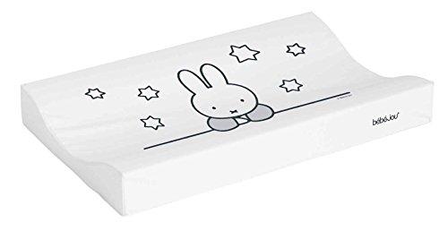 Bébé-Jou Miffy Stars - Cambiador plastificado, 72 x 44 cm, color blanco