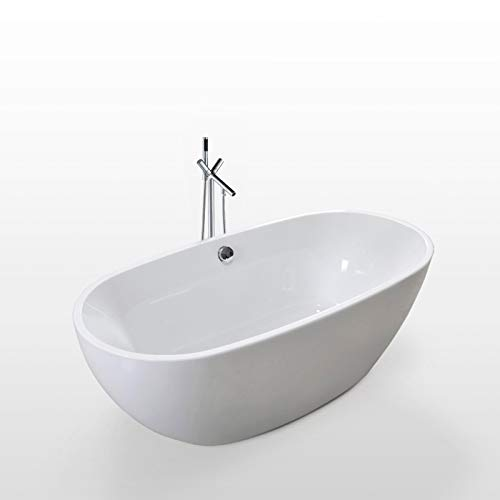 Great Features Of 67 Freestanding white bathtub overflow and faucet contemporary soaking Carol