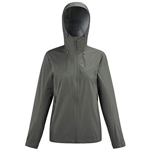 Millet - Fitz Roy III JKT W - Chaqueta Hardshell para Mujer - Membrana Dryedge Impermeable y Transpirable - Aproximación, Senderismo, Trekking, Diario - Gris