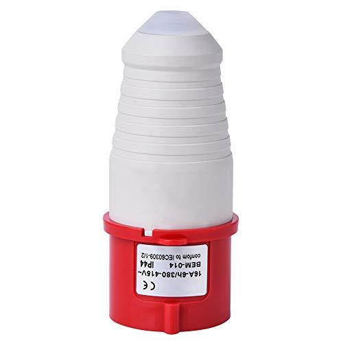 Tenpac 10 Uds 16A 380-415V Conector de Enchufe Industrial Impermeable al Aire Libre Enchufe Industrial Enchufe eléctrico, 4 Pines IP44 BEM-014