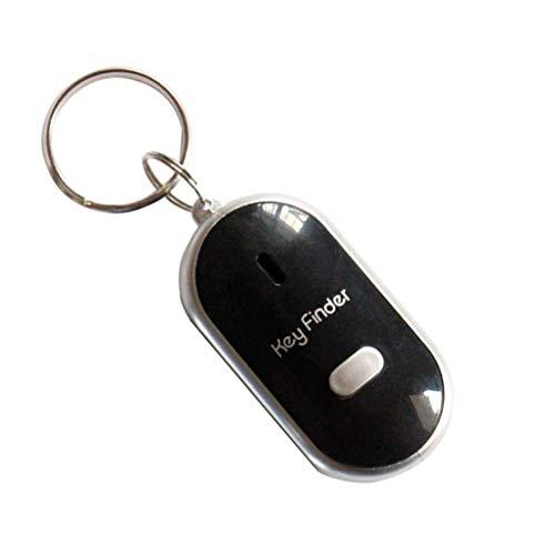 Weilifang LED de luz Intermitente pitido buscador de la Llave perdida Encuentra Llavero Key Finder Encuentra silbido de Control de Sonido Llavero Regalo