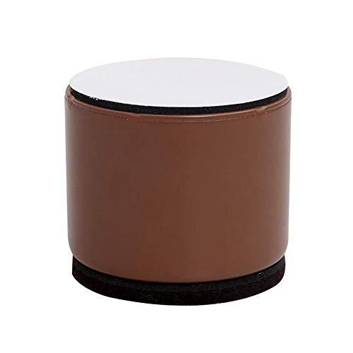YOFASEN Elevadores De Camas Paquete De 4 Posavasos para Sillas , Elevador De Muebles Antideslizante De Acero Al Carbono, con Adhesivo,Marrón/60X32Mm