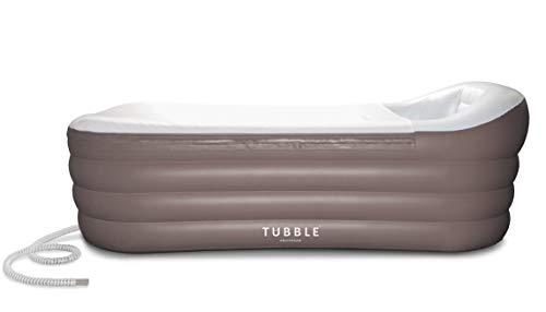 Tubble® Royale Air Bath - Aufblasbare Badewanne für Erwachsenen - Jacuzzi, Mobile Badewanne, Bad, Wanne - Größe 255 Liter (156 cm) - Ambient Taupe
