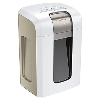 Bonsaii 240-Minute Heavy-Duty Shredder P-6 High-Security Micro-Cut Paper Shredder for Home & Office Use Shreds CD/Credit Cards 5-Sheet Shredding Capacity White  5S30