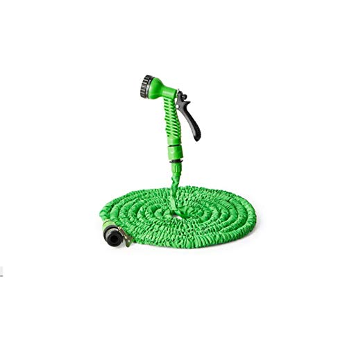 ZFF Manguera de jardín Manguera expandible Manguera Flexible Tubo de Manguera plástico con Pistola de pulverización Riego de Lavado de Autos Aerosol 25ft-200 pies (Color : Green, Lengh : 75ft)