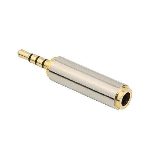 Adaptador de Audio de 2.5 mm Macho a 3.5 mm Hembra de Audio estéreo para Auriculares Jack Adaptador de Audio Chapado en Oro - Negro