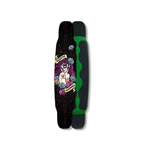 HXGL-Skateboards Professioneel Skateboard Complete Board Brush Street Dance Board Vier Wiel Skateboard Adult Gift - Kleine Heks (Zwart)