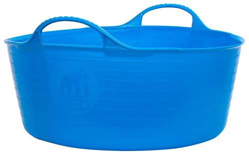 Faulks Tubtrugs Small Shallow 15l Blue Cubo Flexible Multiusos, Azul, 39x39x16 cm