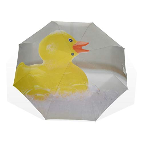 Best Rain Umbrella Rubber Duck In A Bubble Bath Foam 3 Fold Art Umbrellas(outside Printing) Umbrella Kids Compact Travel Umbrella Windproof Compact Umbrella Decorative Sun Umbrella