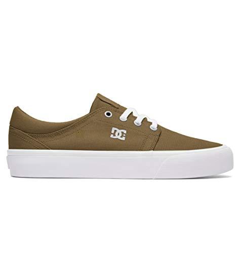DC Women's Trase TX Skate Shoe, Dark Olive, 7.5 M US