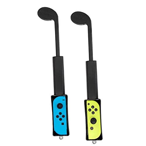 YepYes Club de Golf Compatible con Nintendo Switch Club Hand Grip Game Componente Black 1pair