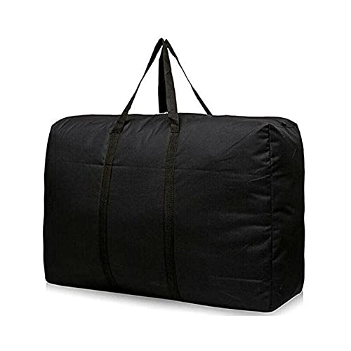 hgkl Bolsa de Almacenamiento Bolsa de Lona móvil Grande Impermeable Mochila Reutilizable Paquete de lavandería Embalaje no Tejido Bolsa de hogar (Color : Negro)