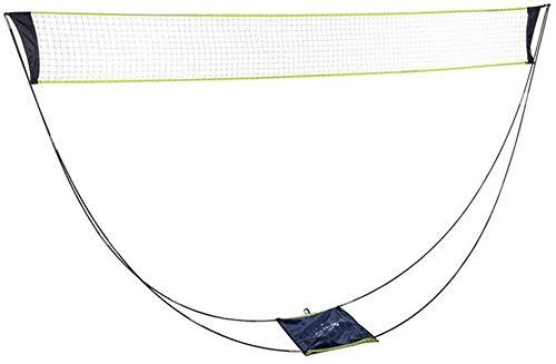 FASTDISK Juego de Red portátil de bádminton de Voleibol extraíble con Bolsa de Transporte para Deportes al Aire Libre en Interiores
