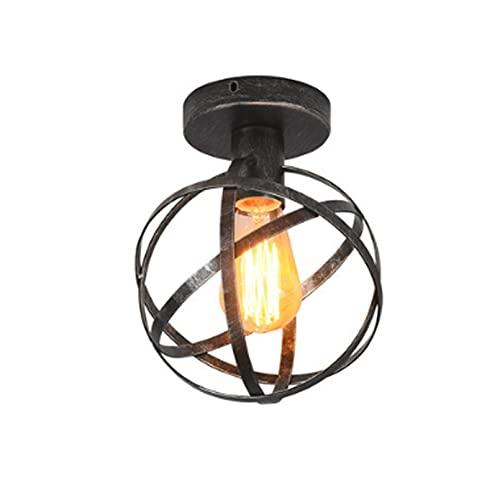 Chenguojian Vintage Jaula de Metal Techo LIGHTRETRO Mini Mini Luces Colgantes Lámpara de Techo for la Isla de la Cocina, Loft, Comedor (Color : Silver Gray)