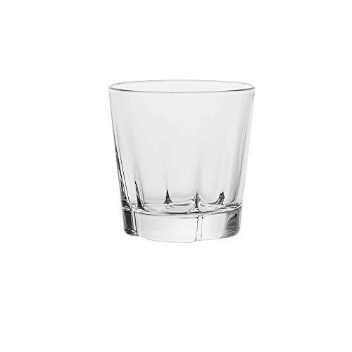 AmazonCommercial Old Fashioned Whiskey Glass, 9.1 oz., Set of 8