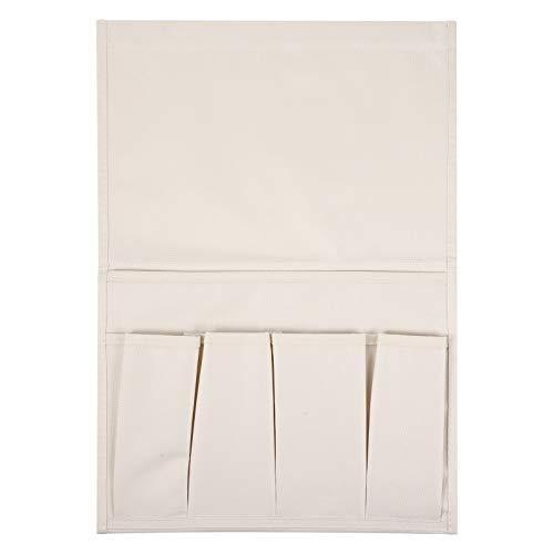 PRETYZOOM Beige Sofa Armrest Organizer Pocket Bag Bolsa de Almacenamiento Bolsa Holder Caddy for Laptop Pad Magazines Books Phone Home Office