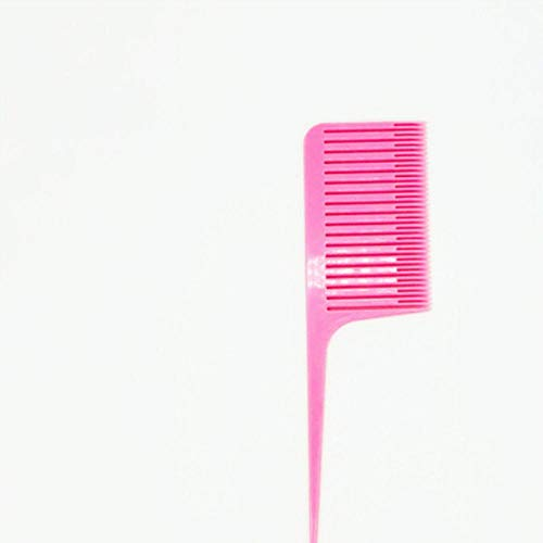 2020 Hot Highlight Weave Hairdressing Hair Salon Dye Comb For Hair Styling Rat Tail Peigne Fine-tooth Hair Comb Brush Brush Beauty Tools, Pink