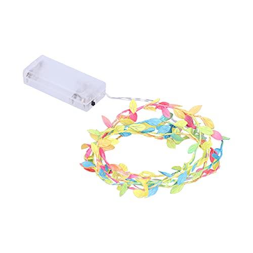 Decoración de luz LED, Forma de Hojas de Colores de Cadena de luz LED para Bodas para Fiestas para Dormitorio para Navidad