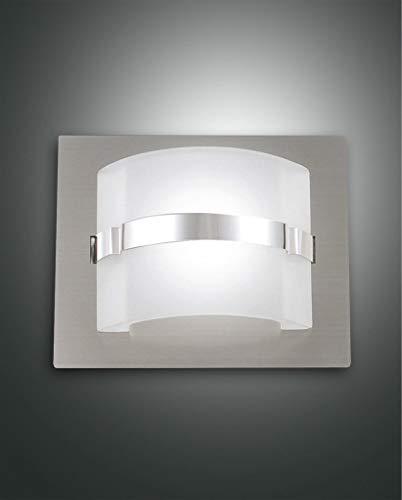 Fabas Luce Niside LED Wandleuchte, 5W, nickel satiniert