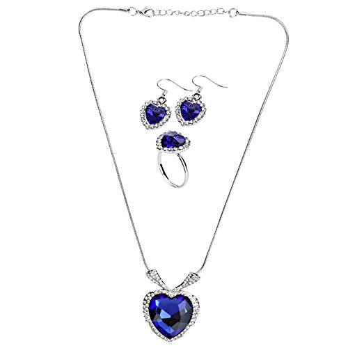 Asixxsix Necklace, Crystal Pendant, Fashionable Fashionable Ring, Elegant Earrings, Novel Style Bridesmaids for Brides Grand Parties Weddings