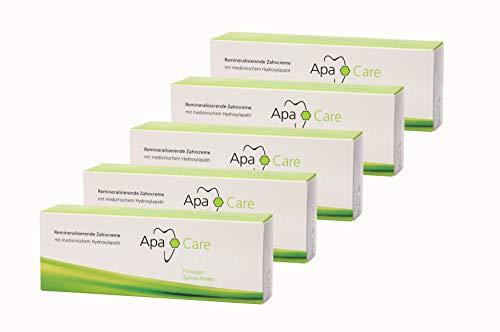 5x Apa Care remineralisierende Zahncreme 75 ml Flüssiger Zahnschmelz Zahnpasta
