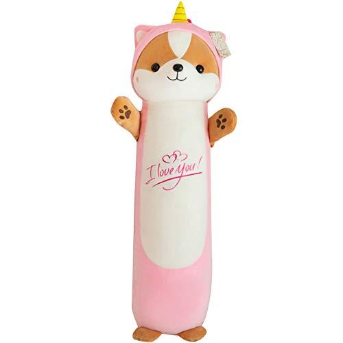 Muñeca de felpa en forma de animal corto Plushie algodón relleno almohada animal de peluche juguete para dormitorio niña dormir