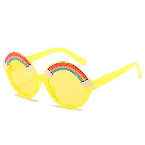 Gafas De Sol Gafas De Sol De Arco Iris Gafas De Sol Redondas Niños Niñas Tonos Coloridos Gafas De Color Rosa Amarillo Lindo Uv400 Tendencias C06