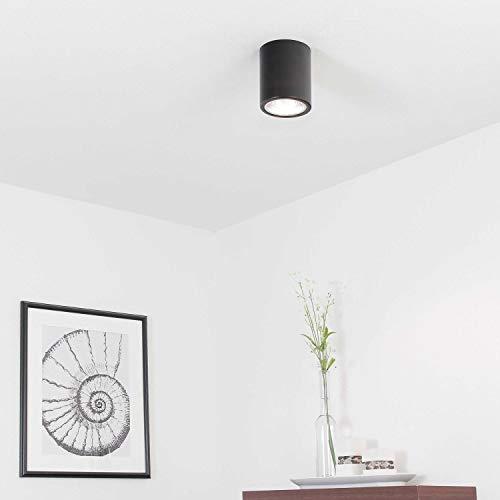 Elegante Deckenleuchte Schwarz Bauhaus Modern E27 Metall Flur Küche Esszimmer Lampe Strahler Beleuchtung innen