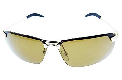 Gafas de sol deportivas para hombre - correr - ciclismo - esquiar - UV400 polarizado - montura dorada - lente marrón - primavera - otoño - invierno - verano