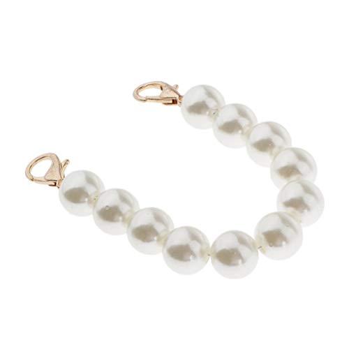 P Prettyia Perlen Kette Taschengriffe Taschenhenkel Taschenbügel Tragegriffe Ersatzband Taschenband für Handtaschen