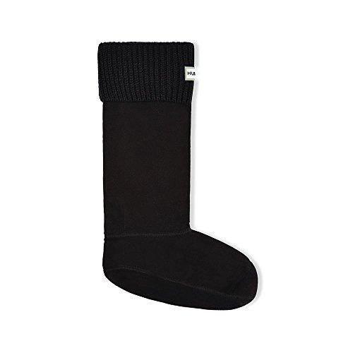 Hunter Field Tall Ribbed Cuff Unisex Boot Socks XL Black