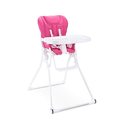 Joovy Nook Nb High Chair, Reclinable Seat, Compact Fold, Swing Open Tray, Pinkcrush (2206)