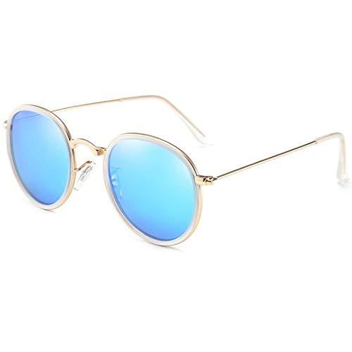 NJJX Gafas De Sol Polarizadas Redondas Hombres Mujeres Moda Gafas De Sol Sombras Gafas Retro 06