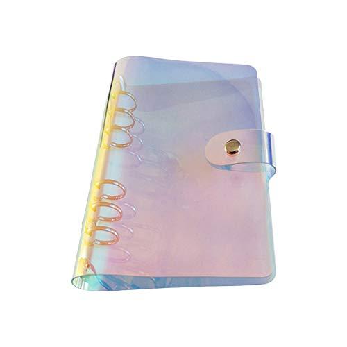zhangaoyo Notizbuch mit 6 Löchern, Notizblock, Skizzenbuch, Business-Tagebuch, Agenda, PVC, lose Blätter, Bürobedarf