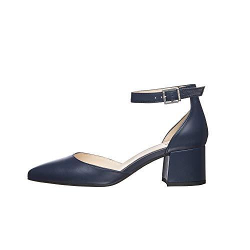 NeroGiardini E012020DE Zapatos De Salón Mujer De Piel - Azul 37 EU