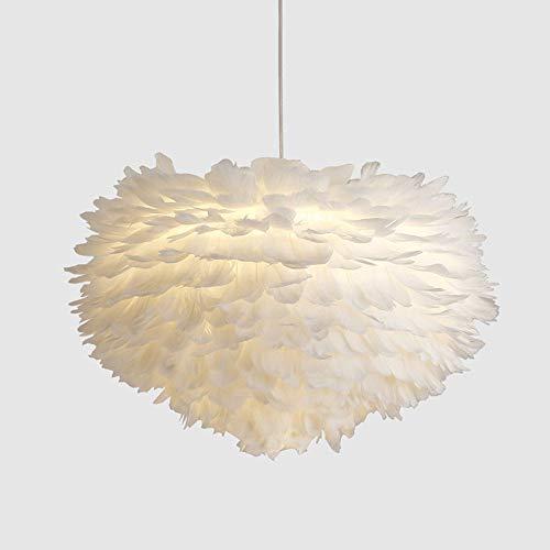 CSSYKV American Creative Comedor Candelabro Candelabro De Plumas De Metal E27 Lámpara Decorativa Colgante Ajustable De Una Sola Cabeza Para Dormitorio Sala De Estar Habitación Infantil Lámparas De Caf
