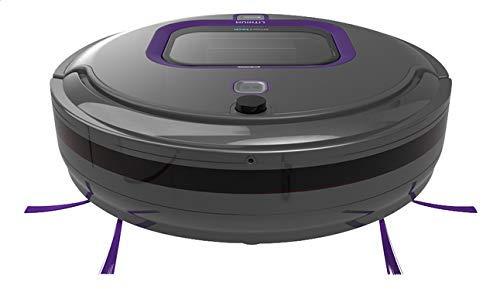 Black+Decker RVA420BM Aspirateur-robot en titane et sans sac Doté d'une batterie lithium-ion de 2 000 mAh 1 l 65 dB