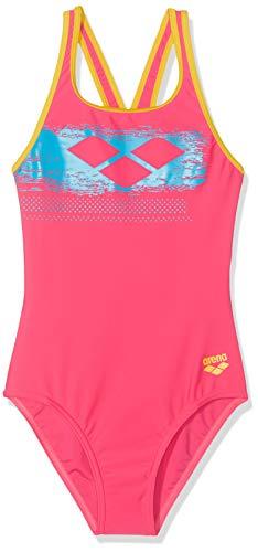 ARENA G Scratchy J Badeanzug für Mädchen, Kind, 001330, Aphrodite/Lily Yellow, 14-15