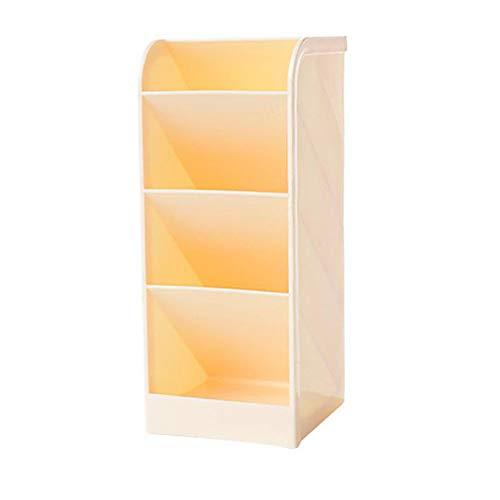 Caja de almacenamiento de mesa de plástico Caja de escritorio Organizador de papelería caso titular decoración de cuatro capas contenedor de almacenamiento de mesa