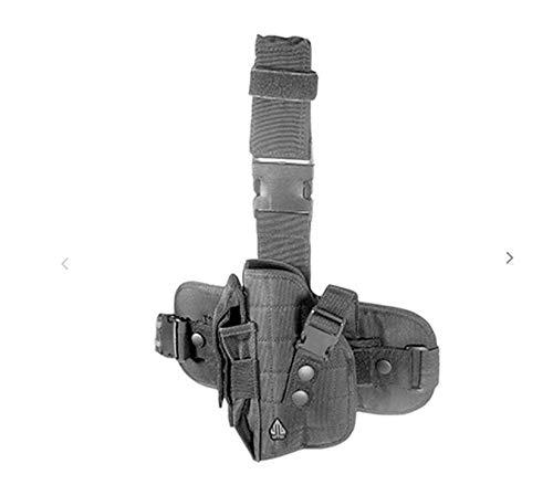GOTICAL Tactical Army SWAT Handed Drop Leg Thigh Pistol Hand Gun Holster (Black, Left Hand)