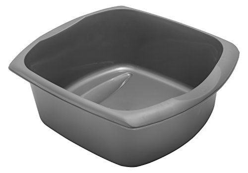 Addis Large Rectangular Bowl, Metallic Silver, 9.5 litre