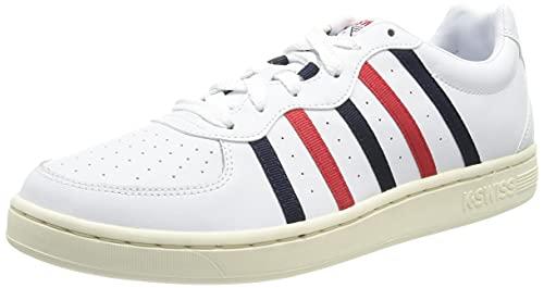 K-Swiss Herren WESTCOURT Sneaker, White/CORPRT/ANTQUWT, 44.5 EU