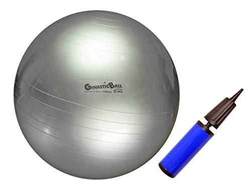 Bola Para Pilates E Exercícios Físicos Diâmetro 65 Cm - Prata, Carci